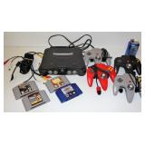 Nintendo 64 Gaming System w 4 Controllers & Games