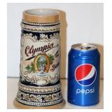 Fancy German Looking Olympia Beer Stein
