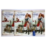 3 New Calypso Rum Metal Signs