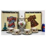 Japan China Tea Set & 2 Ornamental