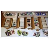 9 Long Boxes Mainly Football Cards