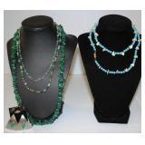 Handmade Stone Necklaces & Earrings