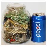 Jar w Almost 4 Pounds Jewelry - Good & Craft