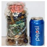 Almost 3# of Wearable Jewelry in Jar