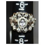 1.45 CTW Bella Luce Sterling Silver Ring