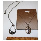 2 Marcasite & Sterling Silver Necklaces