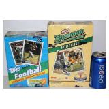 2  Football Cards Boxes - 93 Bowman 92 Topps