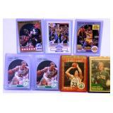 4 Larry Bird & 3 Magic Johnson Basketball Cards