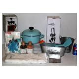 New Items for Kitchen - Enameled Pot, Utensils