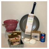 Frying Pan, Colander, Napkins ++ New for Kitchen