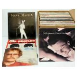Box of Vintage LP Records 80-90 approx.