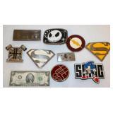 Cartoon Belt Buckles - Superman, Nintendo