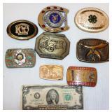 Belt Buckles w Organizations - Rotary, Elks, Eagle