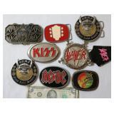 Rock & Roll Bands Belt Buckles