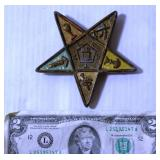 Antique Eastern Star Society Cap Badge 1924