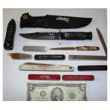 Knives w Advertising - Fixed, Pocket, Letter