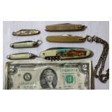 6 Small Pocket Knives