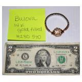 Vintage Bulova 14K Gold Filled Watch