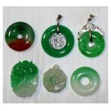 6 Nice Jade Pendants