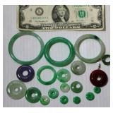Mainly Jade Circle Donut Pendants