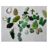 Mainly Jade Pendants Various Shapes & Sizes