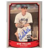 Bob Feller In-Person Signed Card Pacific Baseball