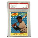 Willie Mays PSA Graded 1958 Topps #386 Card