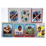 7 Vintage 1971 Topps Football Cards - Unitas, Otto