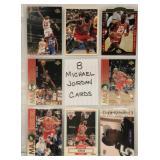 8 Different Michael Jordan Basketball Cards