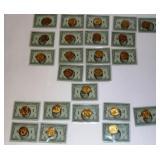 28 Team Pinnacle Cards w QC Coins - Marino, Young