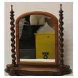 Antique Dresser Top w Spiral Wood Holders