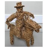 Woven Cowboy Figurine