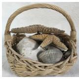 Basket of Shells-Starfish