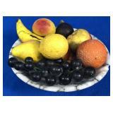 Bowl of Ceramic Fruit