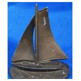 Metal Sailboat Figurine