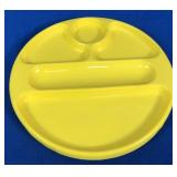 Set of 4 Plastic Divided Plates