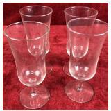 Set of 4 Stemmed Glasses
