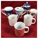 Lot of Holiday Theme Mugs