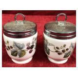 Pair or Royal Worcester Lidded Jars