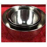 Lot of Stainless Steel Mixing Bowls