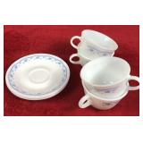 Set of Corelle Saucers and Pyrex Cups
