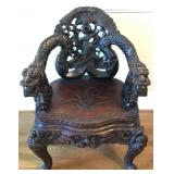 Carved Teak Chair(Owner provenance in photos)