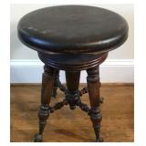 Antique Ball and Claw Piano Stool