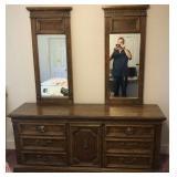 Burlington House Dresser w/Dual Mirrors