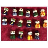 Lot of Miniature Wooden Dolls
