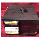 Lot of 8 Track Tapes and Carousel