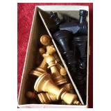 Complete Set of Wooden Chess Pieces