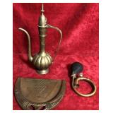 Brass Pitcher, Horn and Other