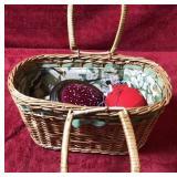 Basket of Sewing Supplies