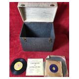 Large Lot of Audio Book Records and Storage Box